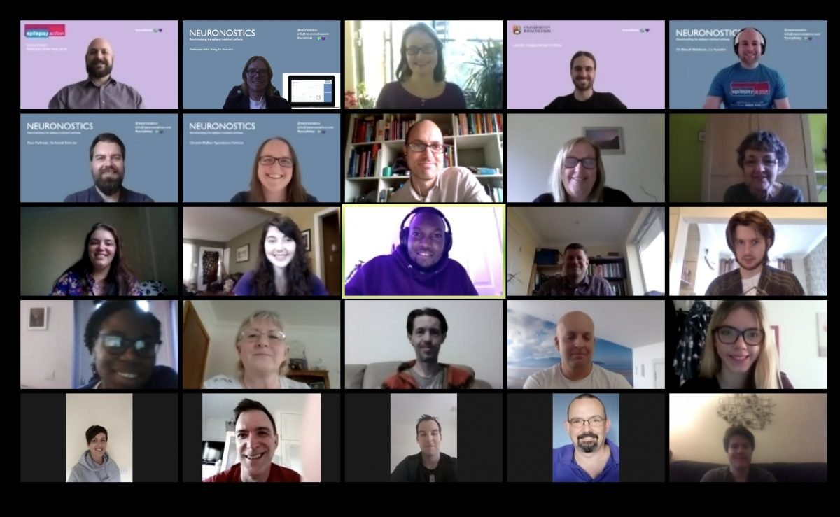 image of participants of online dicussion